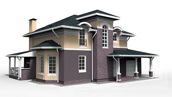 Каркасный дом под ключ 164м